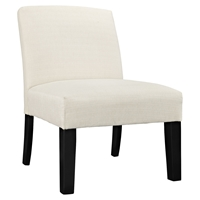 Auteur Fabric Accent Chair - Wood Legs, Beige