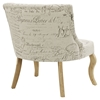 Royal Fabric Chair - White - EEI-1402-WHI