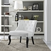 Royal Leatherette Accent Chair - Button Tufted, White - EEI-1404-WHI