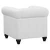 Earl Leatherette Armchair - Button Tufted, White - EEI-1409-WHI