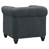 Earl Fabric Armchair - Button Tufted, Gray - EEI-1410-GRY