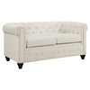 Earl Fabric Loveseat - Button Tufted, Beige - EEI-1412-BEI