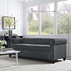 Earl Fabric Sofa - Button Tufted, Gray - EEI-1414-GRY