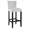 Tender Backrest Bar Stool - Button Tufted, White - EEI-1415-WHI