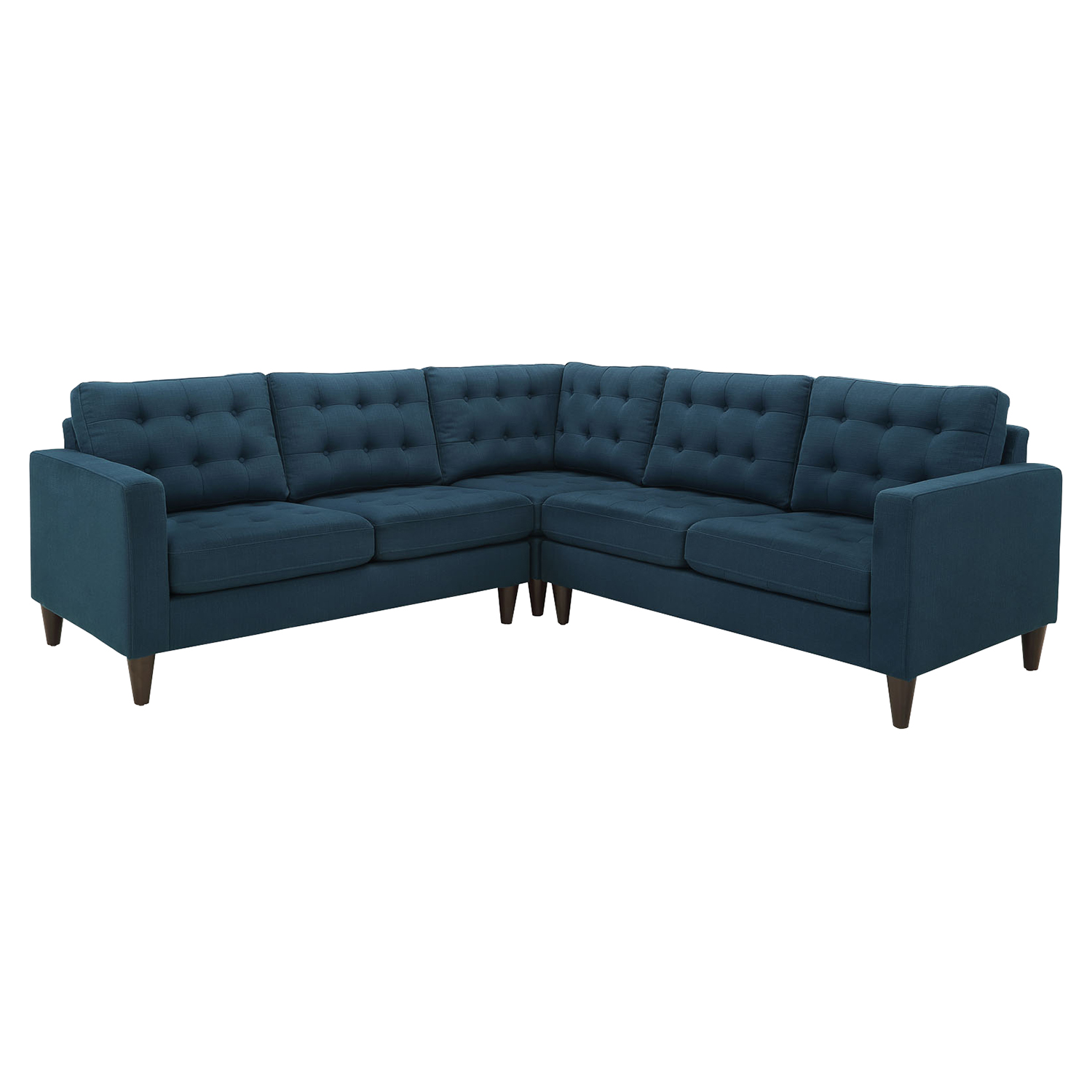 Empress 3 Pieces Fabric Sectional Sofa Set - Tufted - EEI-1417