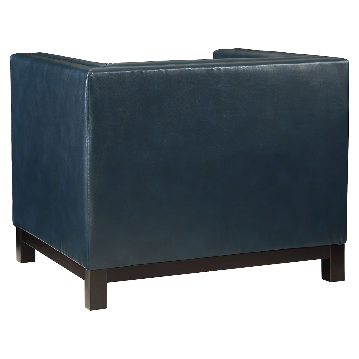 Imperial Bonded Leather Armchair - Button Tufted, Blue - EEI-1420-BLU