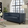 Imperial Bonded Leather Sofa - Button Tufted, Blue - EEI-1421-BLU