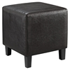 Lodge Leatherette Ottoman - Brown - EEI-1428-BRN