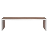 Gridiron Large Wood Inlay Bench - Walnut - EEI-1430-WAL
