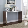 Gridiron Wood Inlay Console Table - Walnut - EEI-1431-WAL