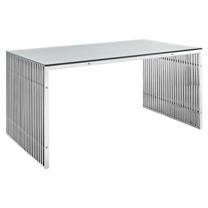 Gridiron Stainless Steel Dining Table - Rectangular