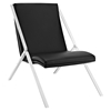 Swing Leatherette Lounge Chair - Black - EEI-1436-BLK