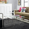 Prism Square Coffee Table - Silver - EEI-1437-SLV