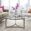 Signet Stainless Steel Coffee Table - EEI-1438-SLV