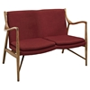 Makeshift Upholstered Loveseat - Maple, Red - EEI-1441-MAP-RED