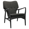 Heed Lounge Chair - Button Tufted, Wood Frame - EEI-1442