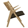 Concise Lounge Chair - Natural/Brown - EEI-1445-NAT-BRN