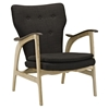 Counsel Lounge Chair - Natural/Brown, Tufted - EEI-1446-NAT-BRN