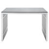Gridiron Stainless Steel Office Desk - EEI-1450-SLV