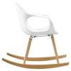 Swerve Rocking Chair - White - EEI-1456-WHI