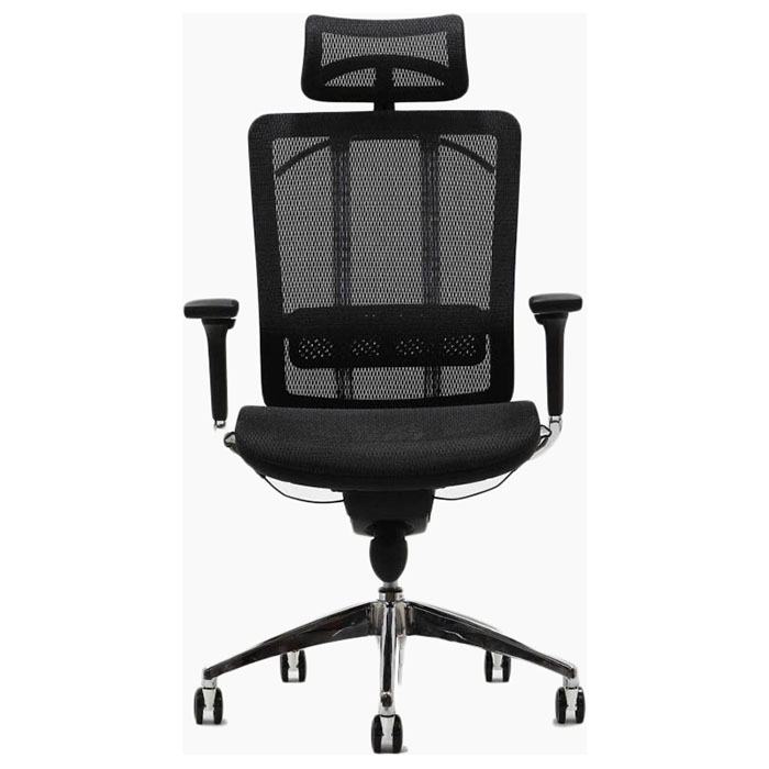 Future Black Office Chair With Headrest Dcg Stores