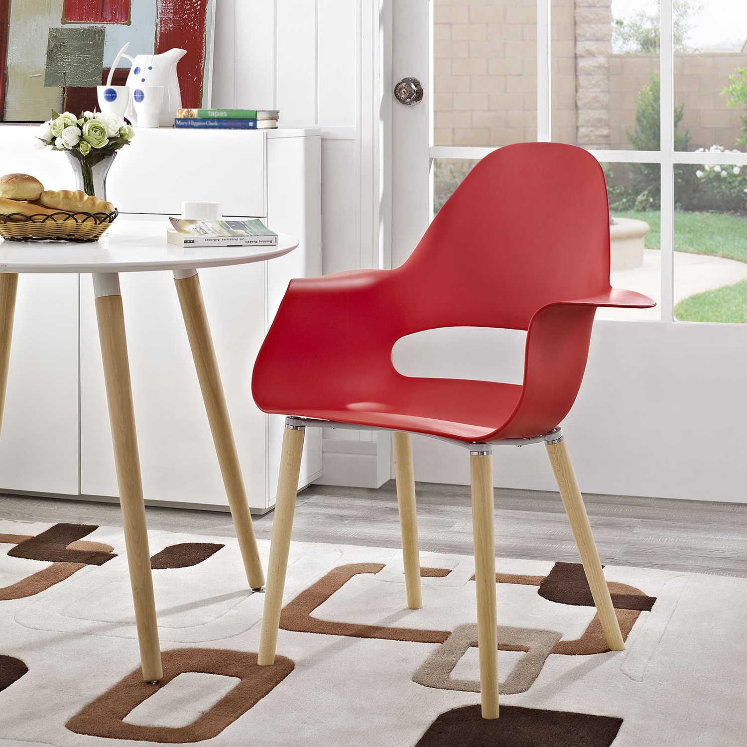 Soar Dining Armchair - Red - EEI-1464-RED
