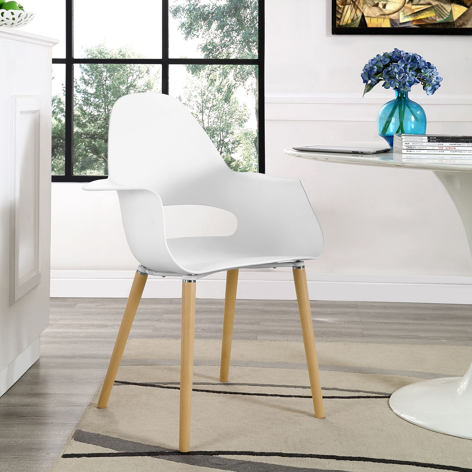 Soar Dining Armchair - White - EEI-1464-WHI