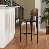 Cabin Armless Bar Stool - Walnut, Black - EEI-1468-WAL-BLK