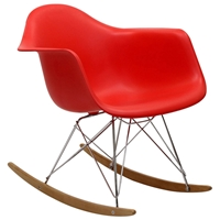 Retro Modern Molded Rocking Chair