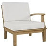 Marina 4 Pieces Outdoor Patio Teak Sofa Set - Natural White - EEI-1818-NAT-WHI-SET