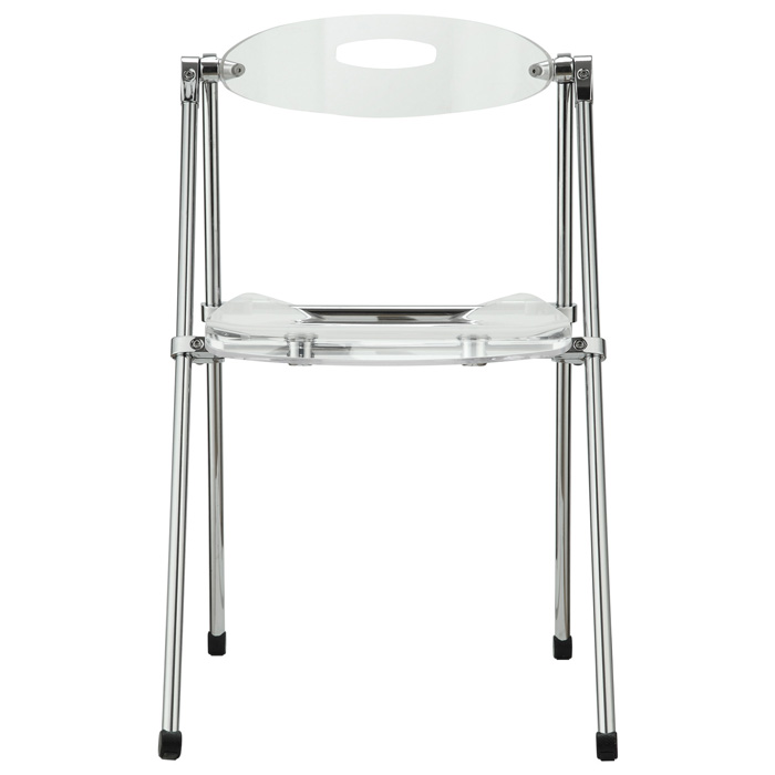 Telescoping Clear Folding Chair