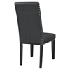 Parcel Dining Leatherette Side Chair - Nailhead, Black - EEI-1491-BLK