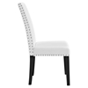 Parcel Dining Leatherette Side Chair - Nailhead, White - EEI-1491-WHI