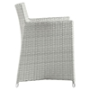 Junction 5 Pieces Outdoor Patio Set - Gray Frame, White Cushion - EEI-1760-GRY-WHI-SET