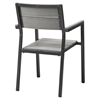 Maine Dining Outdoor Patio Armchair - Brown, Gray - EEI-1506-BRN-GRY