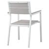 Maine 9 Pieces Outdoor Patio Set - White, Light Gray - EEI-1753-WHI-LGR-SET