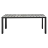 "Maine 80"" Outdoor Patio Dining Table - Brown, Gray - EEI-1509-BRN-GRY"