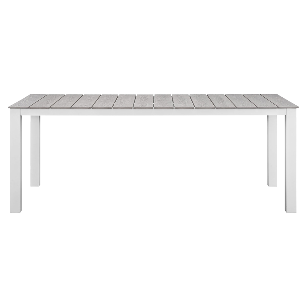Maine 80 outdoor patio dining table white light gray for White patio table