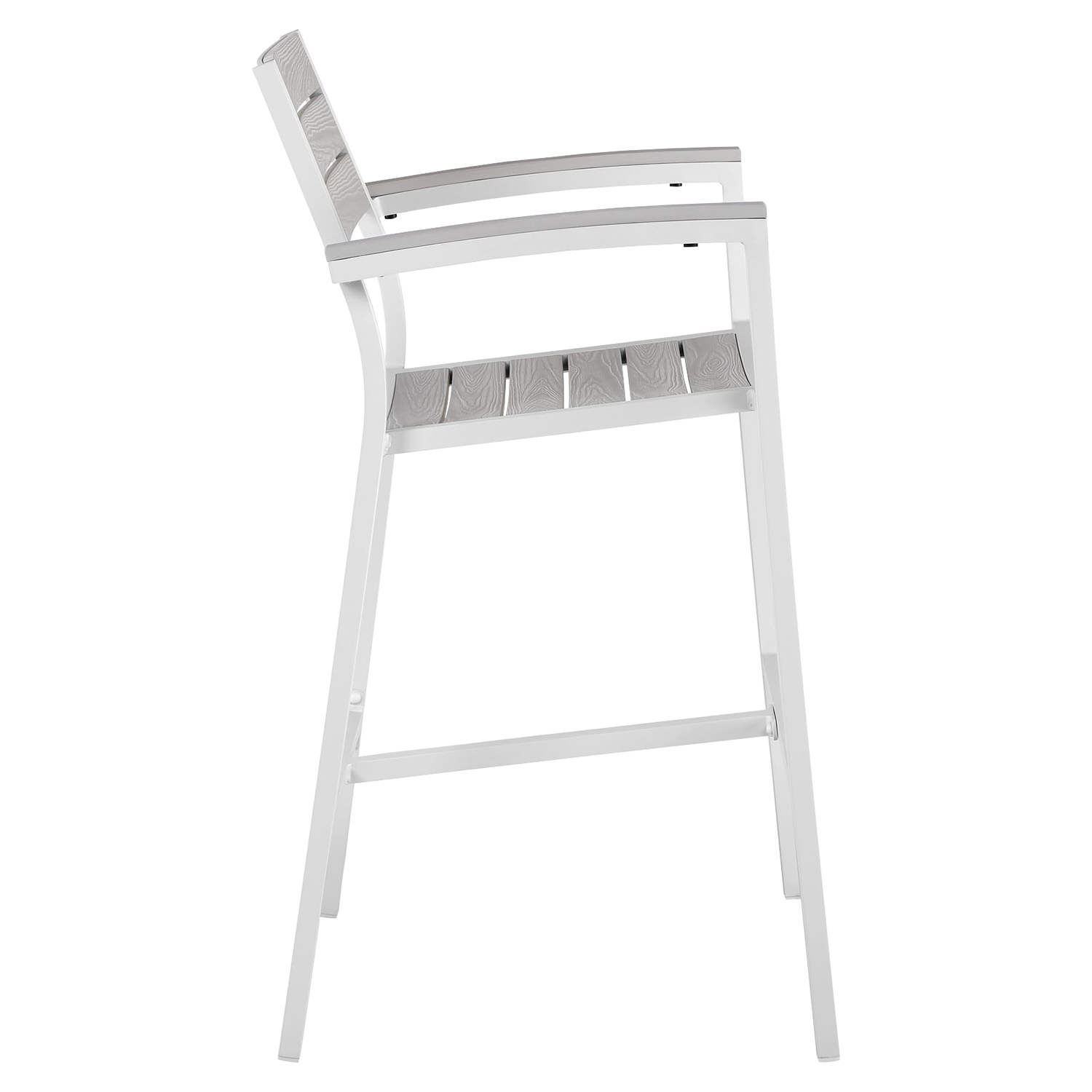 Maine 3 Pieces Patio Set - White, Light Gray - EEI-1754-WHI-LGR-SET