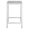 Maine Outdoor Patio Bar Table - White, Light Gray - EEI-1511-WHI-LGR