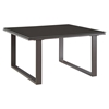 Fortuna Outdoor Patio Side Table - Square, Brown - EEI-1515-BRN-SET