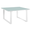 Fortuna Outdoor Patio Side Table - Square, White - EEI-1515-WHI-SET