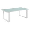 Fortuna Outdoor Patio Coffee Table - Rectangular, White - EEI-1516-WHI-SET