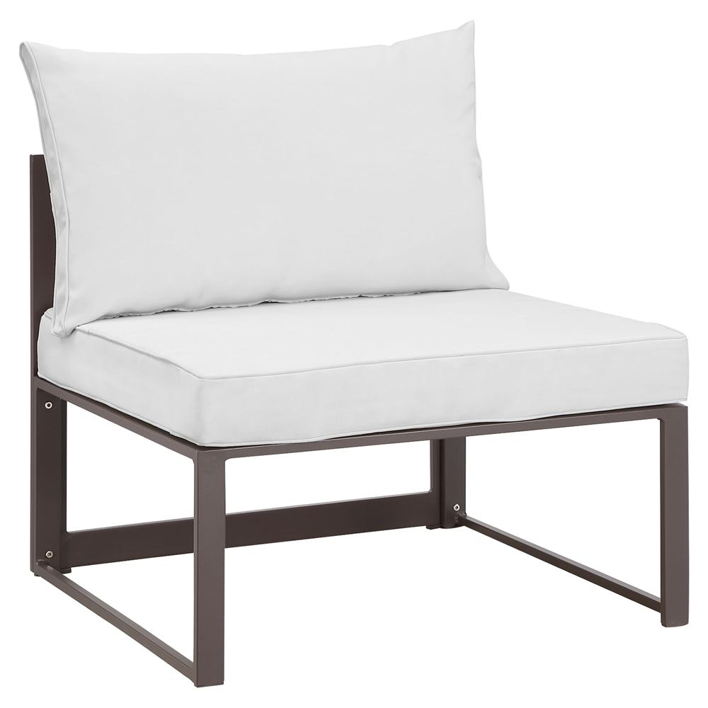 Patio Furniture Cushions White: Fortuna Armless Outdoor Patio Chair