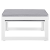 Fortuna Outdoor Patio Ottoman - White Frame, Gray Cushion - EEI-1521-WHI-GRY