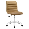Ripple Armless Mid Back Office Chair - Swivel, Height Adjustable - EEI-1532