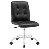 Prim Armless Mid Back Office Chair - Swivel, Height Adjustable - EEI-1533