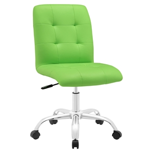 Prim Armless Mid Back Office Chair - Swivel, Height Adjustable