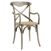 Gear Wood Dining Armchair - Gray - EEI-1538-GRY
