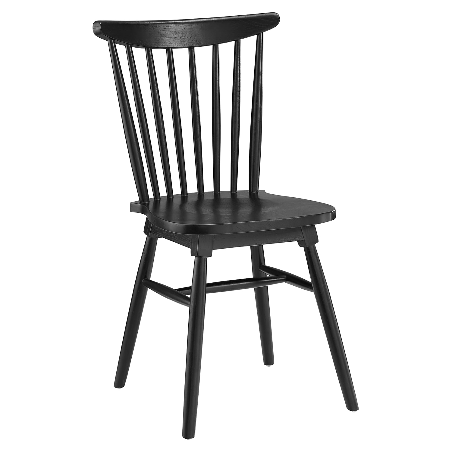 Amble Slat Wood Dining Side Chair - Black - EEI-1539-BLK